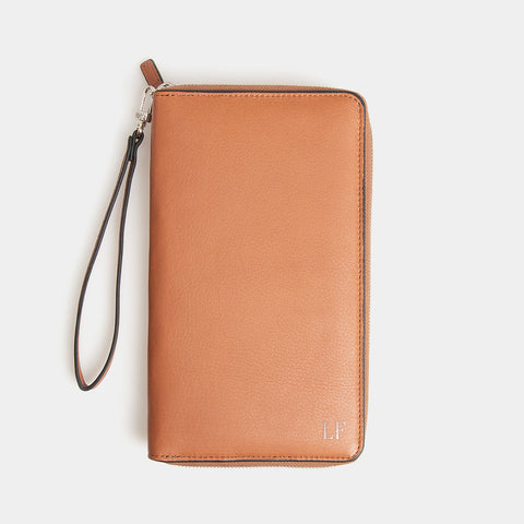 RFID Leather Portfolio Wallet - Flinders Tan - globite