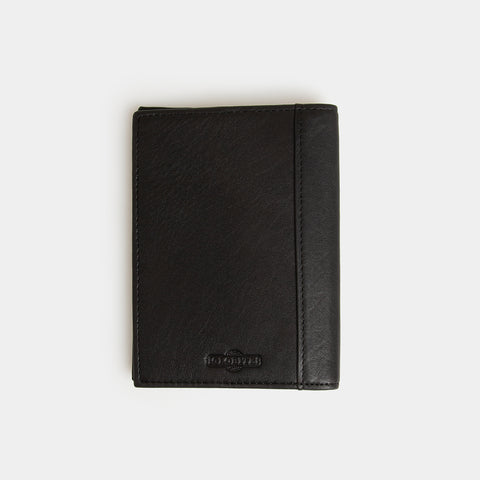 RFID Leather Passport Holder - Carbon Ink - globite
