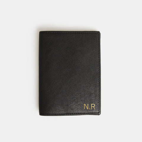 RFID Leather Passport Cover - Carbon Ink - globite