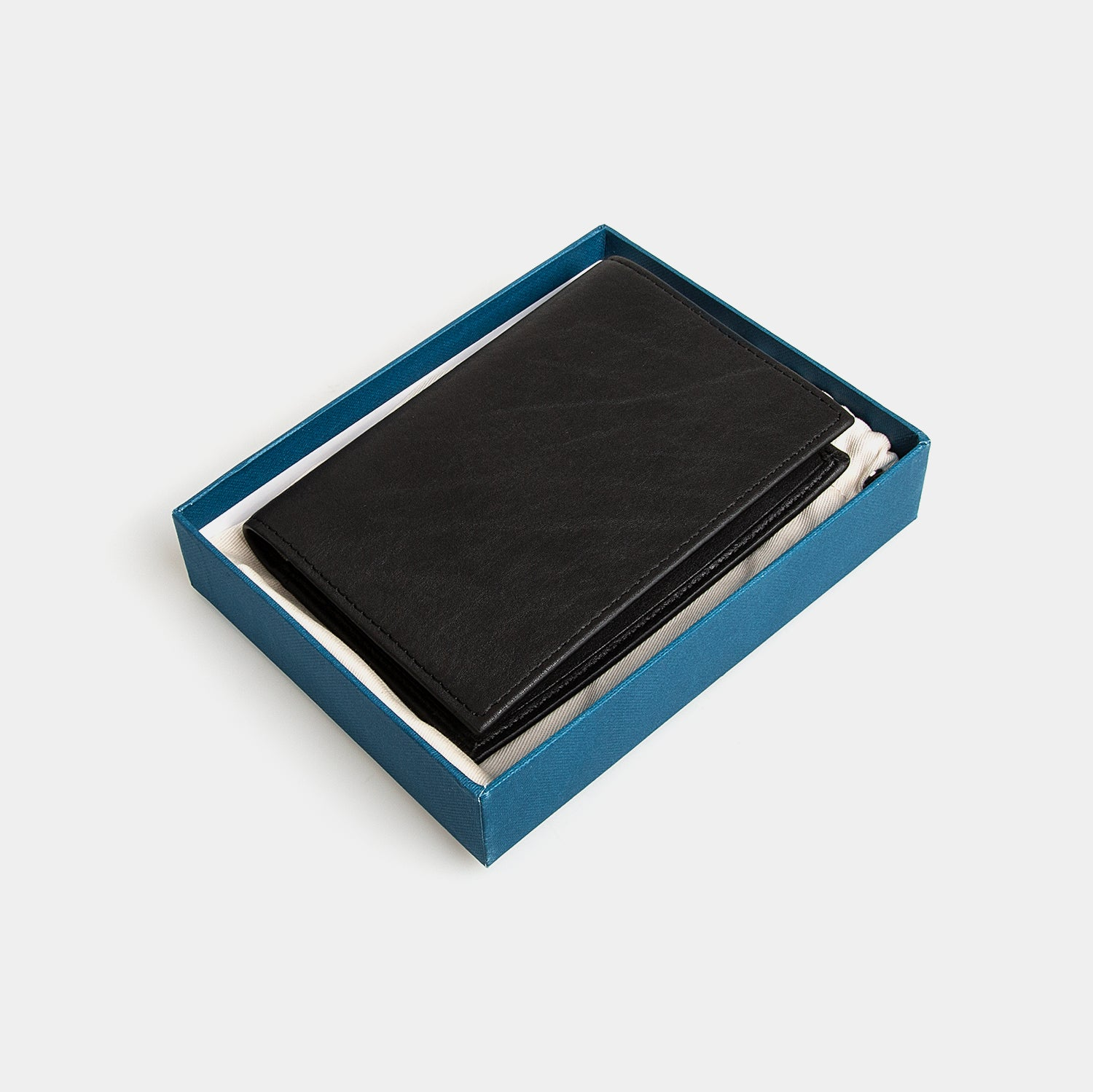 RFID Leather Passport Cover - Carbon Ink
