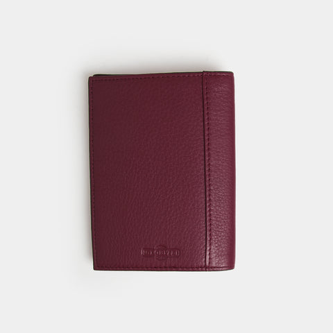 RFID Leather Passport Holder - Barossa Mulberry