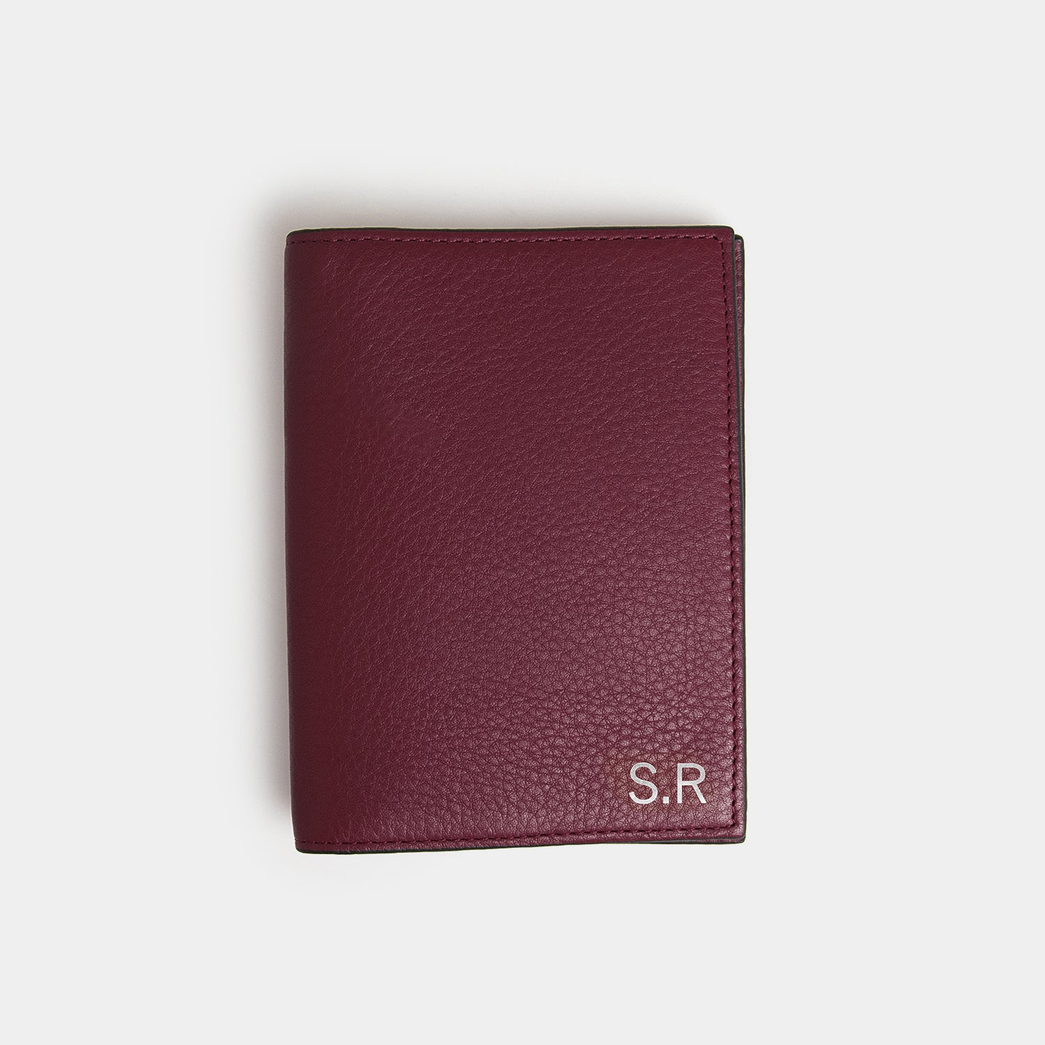 RFID Leather Passport Holder - Barossa Mulberry - globite