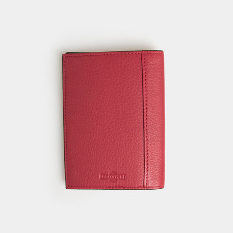 RFID Leather Passport Cover - Desert Claret - globite
