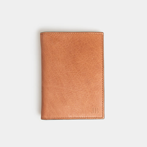 RFID Leather Passport Holder - Flinders Tan - globite