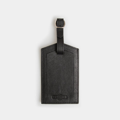 Leather Luggage Identifier - Carbon Ink - globite