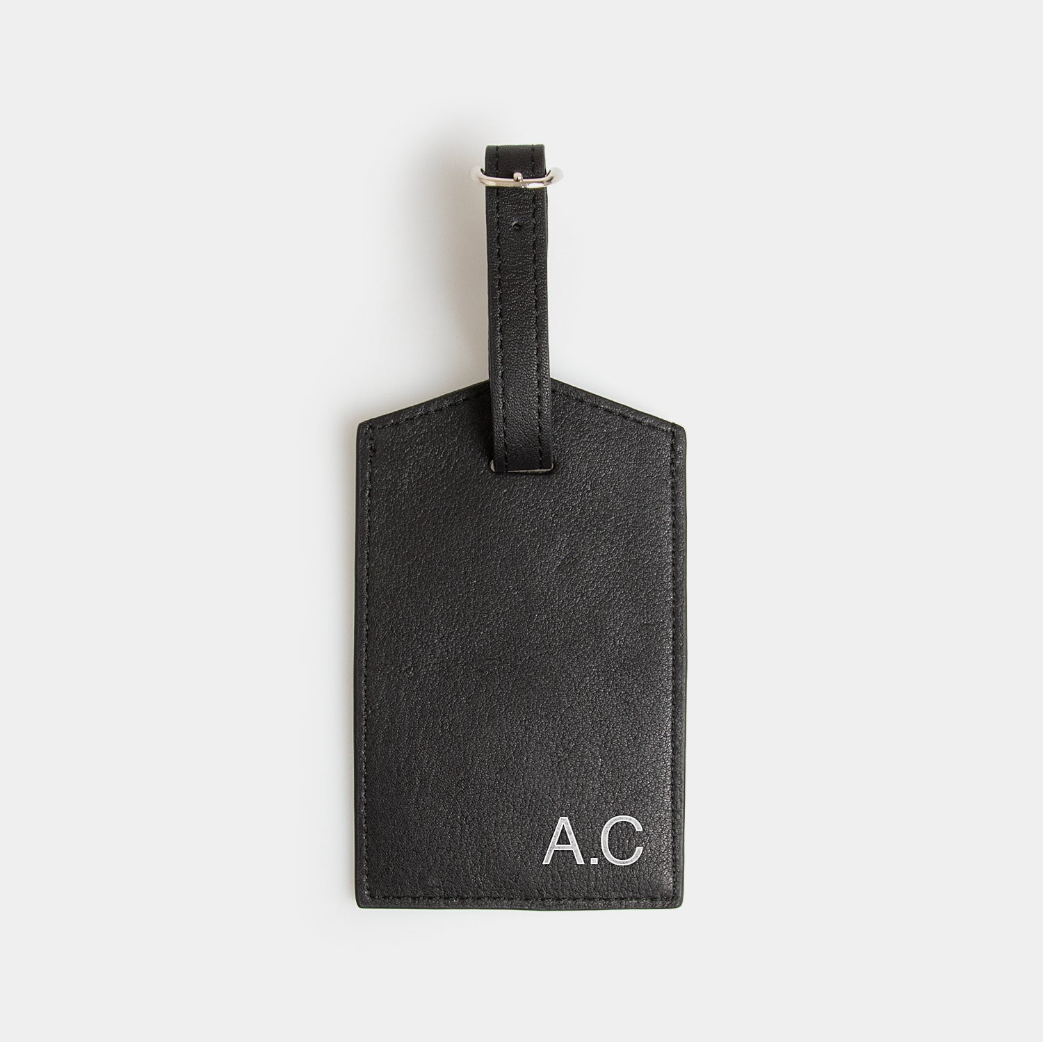 Leather Luggage Tag - Carbon Ink - globite
