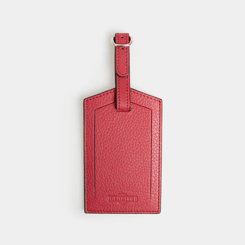 Leather Luggage Identifier - Desert Claret - globite