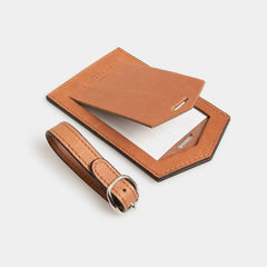 Leather Luggage Identifier - Flinders Tan - globitetravel