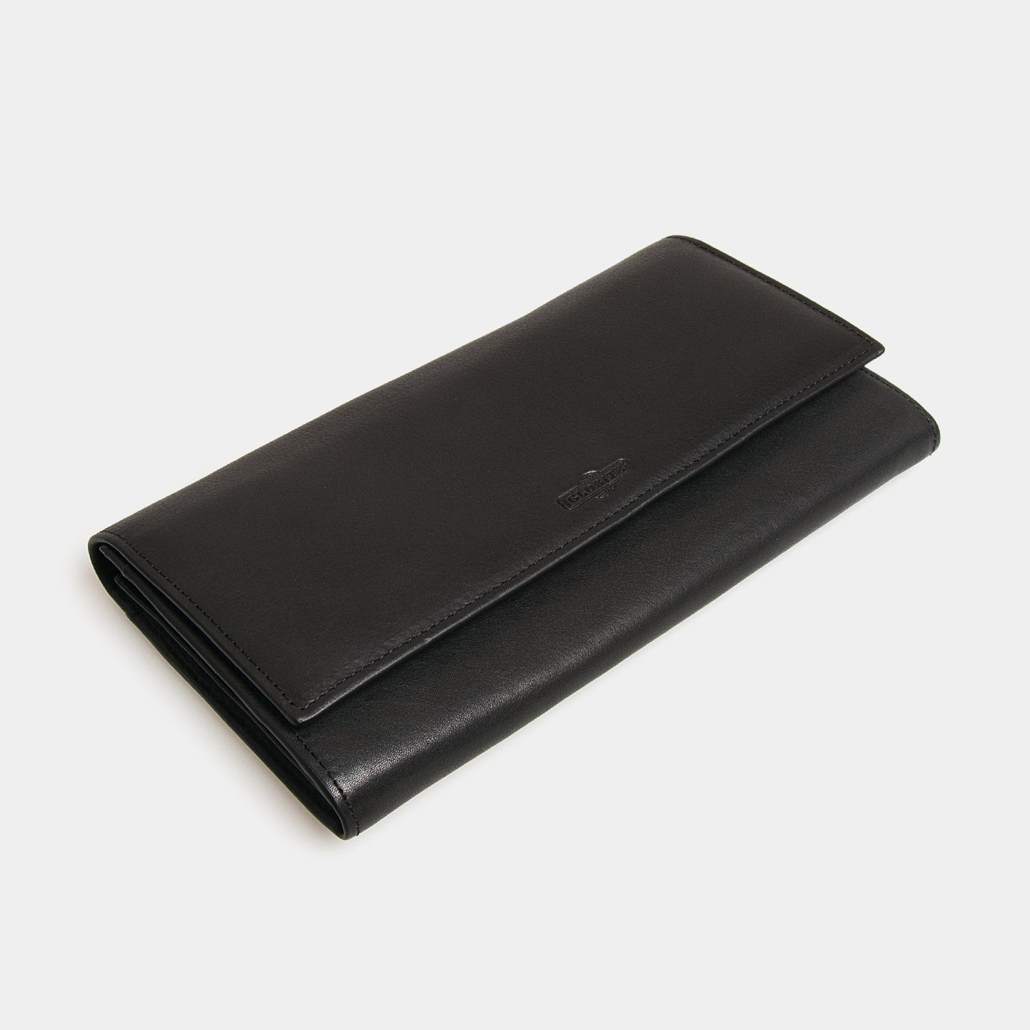 RFID Leather Travel Clutch - Carbon Ink - globite