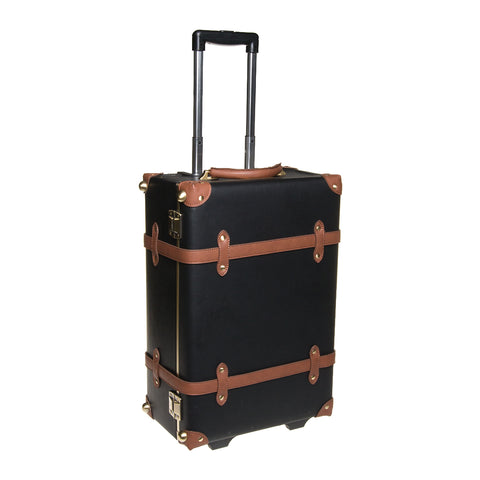 Carry-On Cabin Luggage - Black / Tan