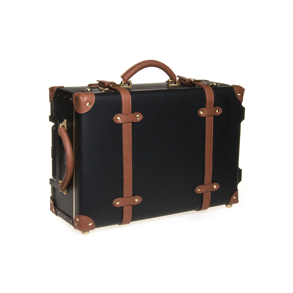 Carry-On Cabin Luggage - Black / Tan - globitetravel