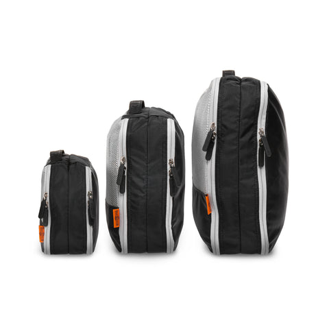 Double Sided Packing Cubes 3 Piece - Black - globitetravel