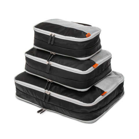 Double Sided Packing Cubes 3 Piece - Black