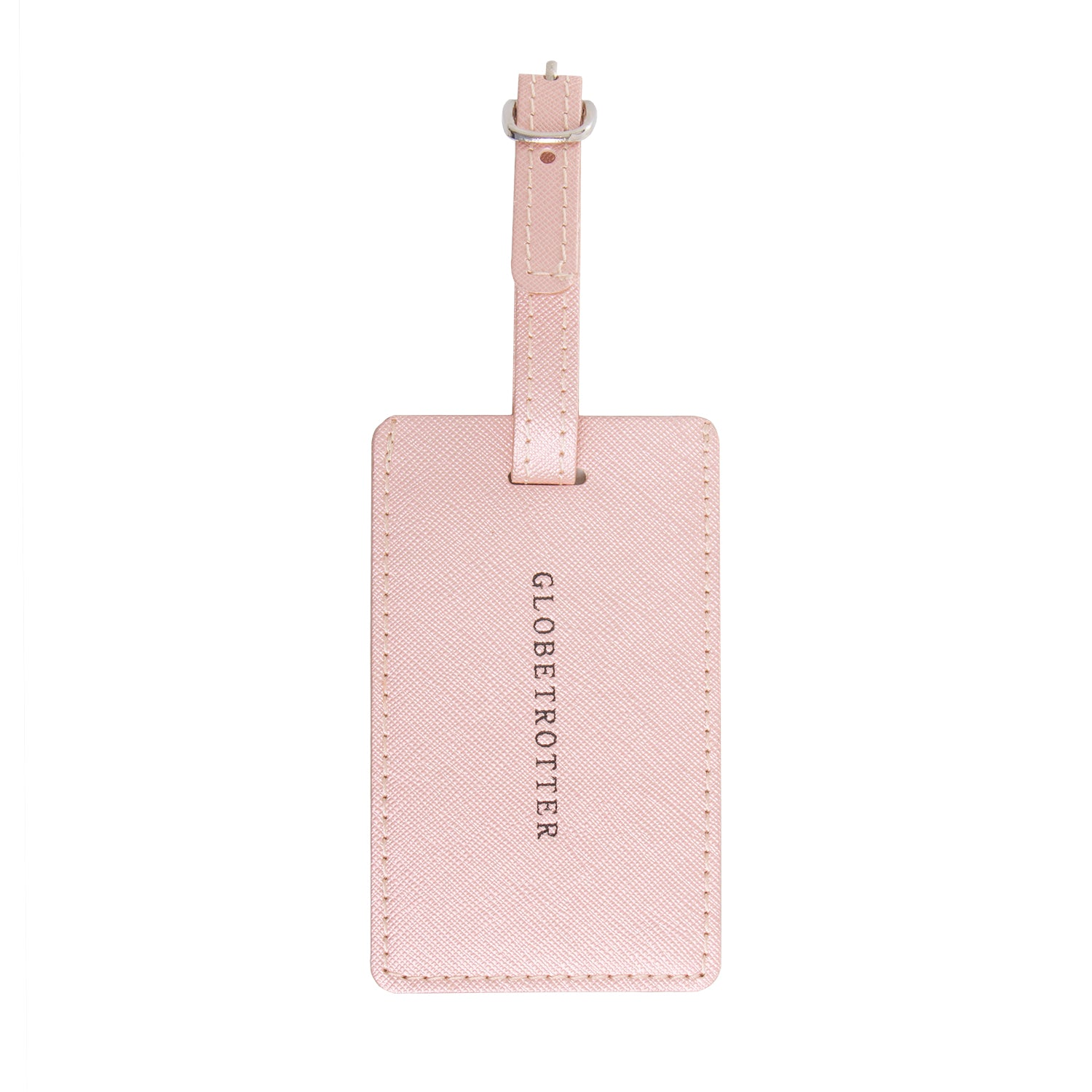 Luggage Tag Metallic Rose Gold - globite