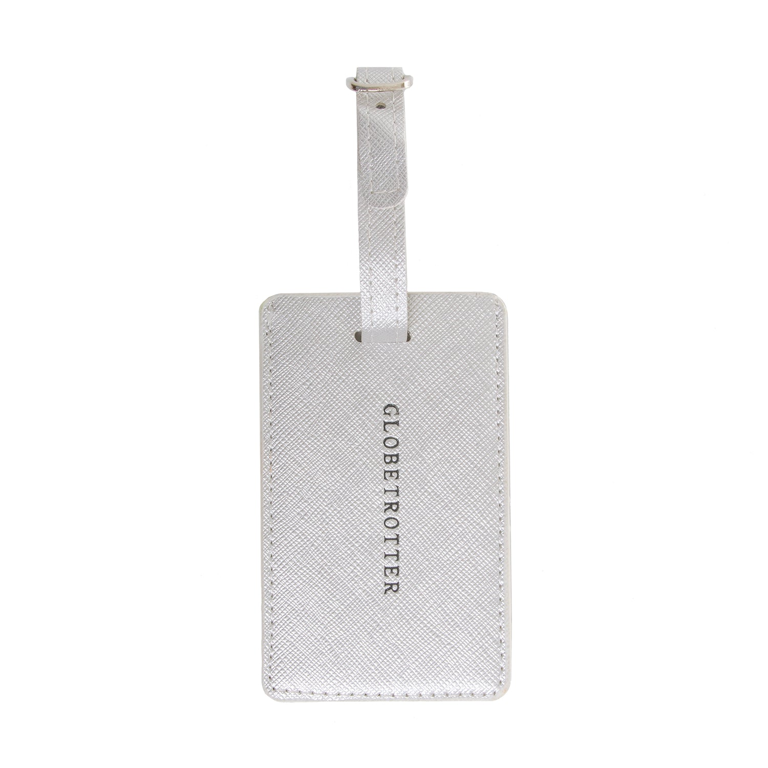 Luggage Tag Metallic Silver - globite