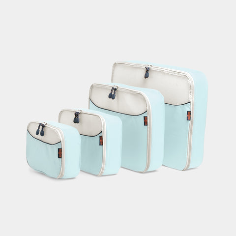 Packing Cubes 4 Piece Set - Dusty Blue - globite