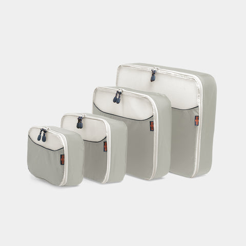 Packing Cubes 4 Piece Set - Light Grey - globite