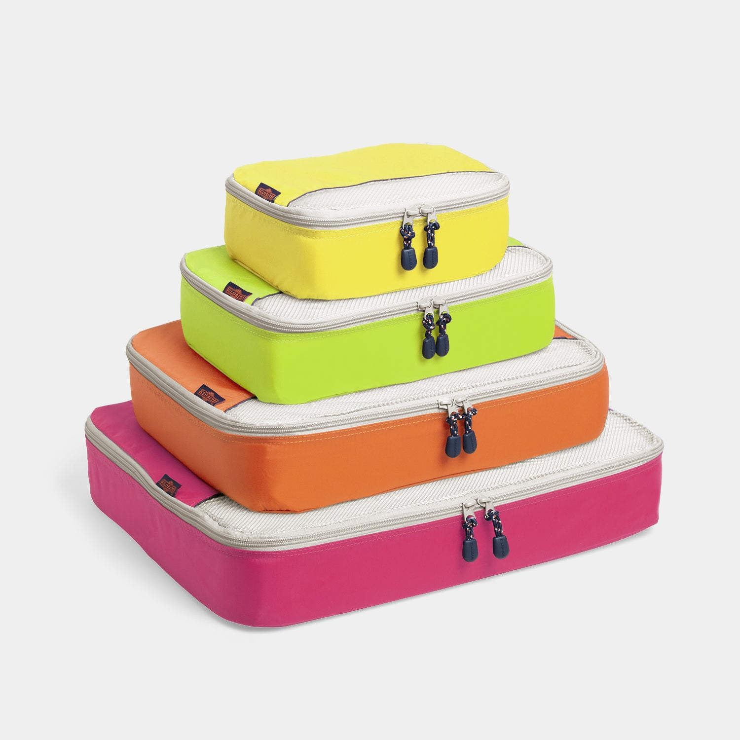 Packing Cubes 4 Piece Set - Neon Lights - globite