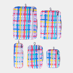 Packing Cubes 5 Piece - Purple Check - globite
