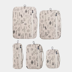 Packing Cubes 5 Piece Set - Carte Postale - globite