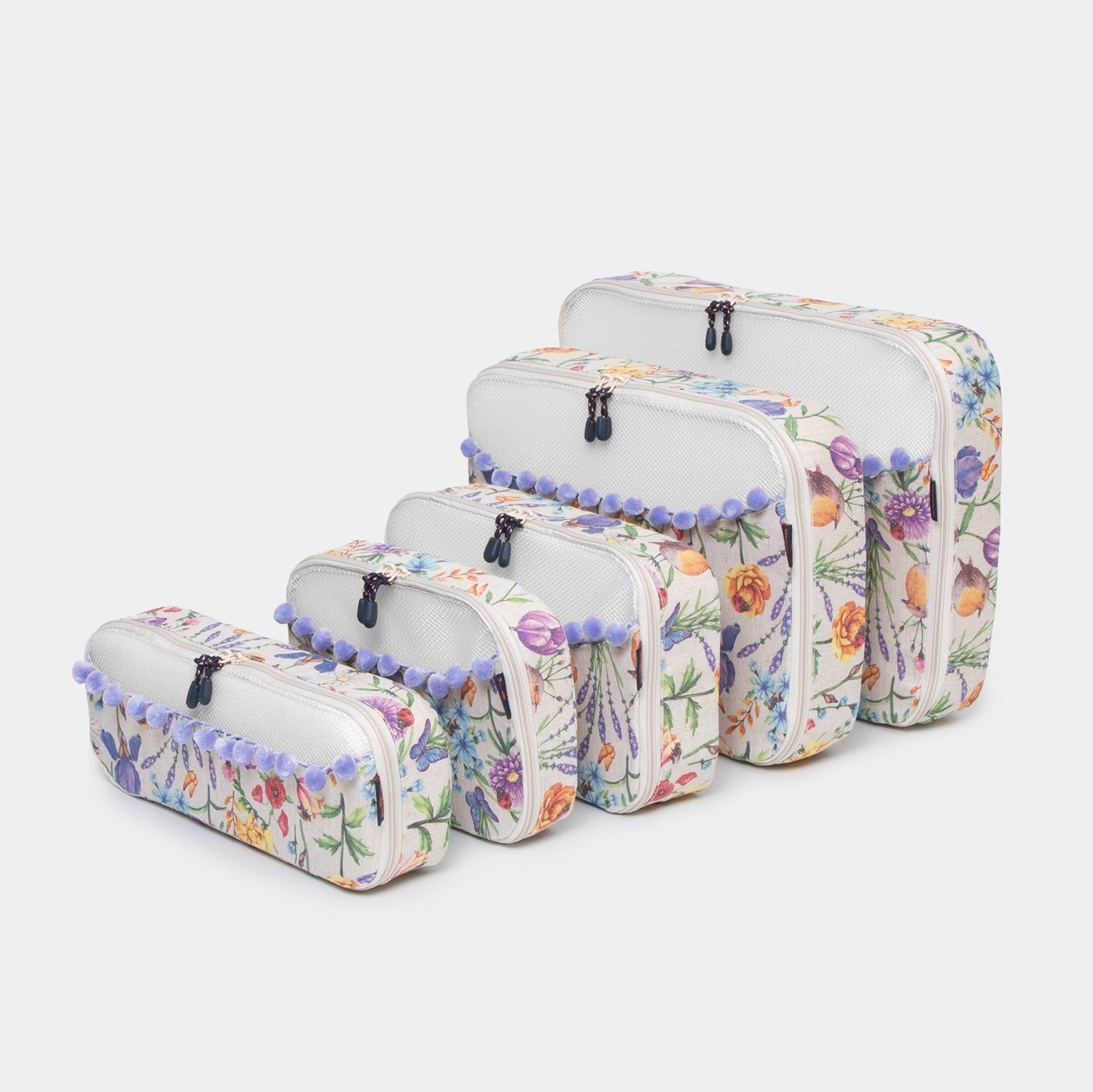Packing Cubes 5 Piece Set - Spring Flowers - globite