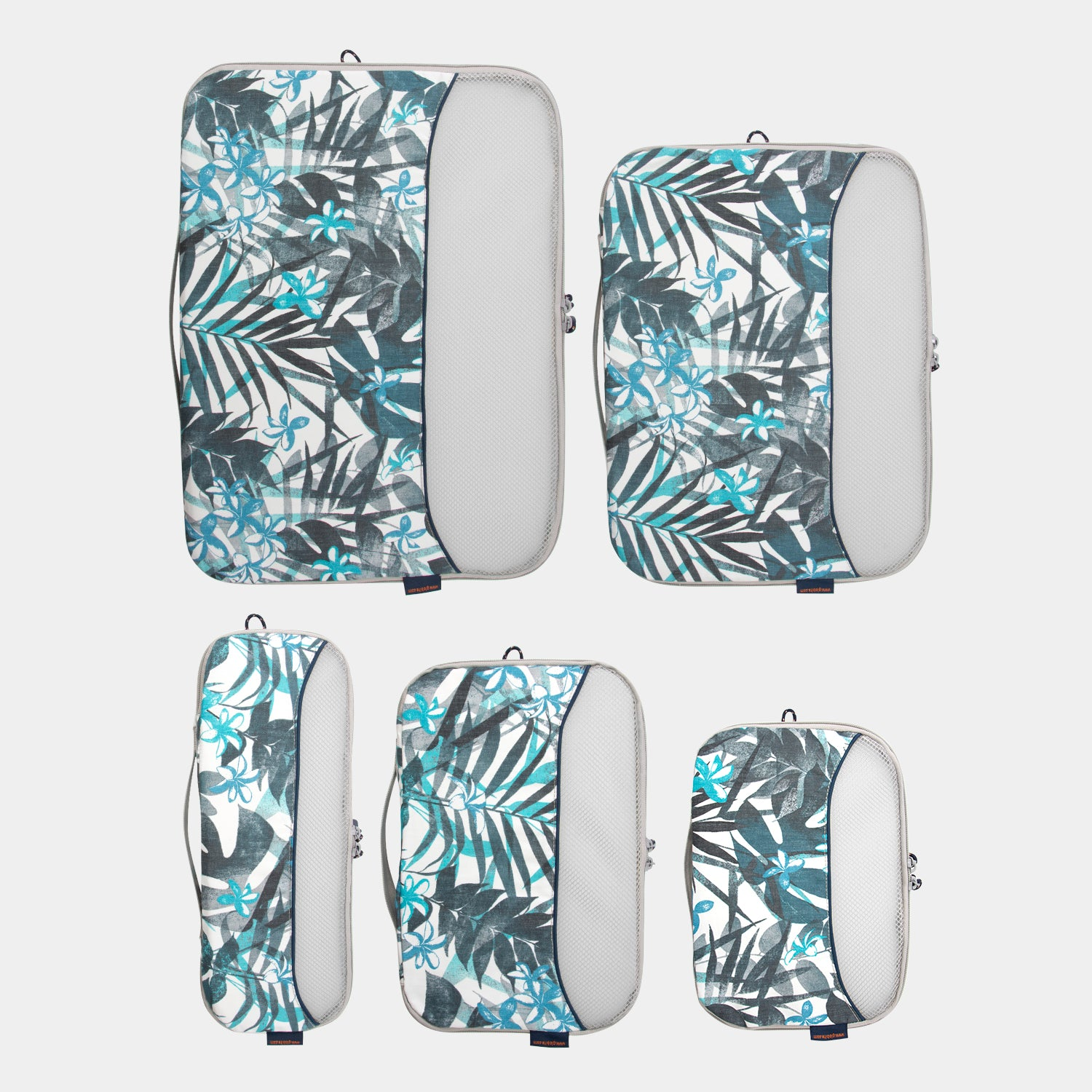 Packing Cubes 5 Piece Set - Tropical Oasis - globite