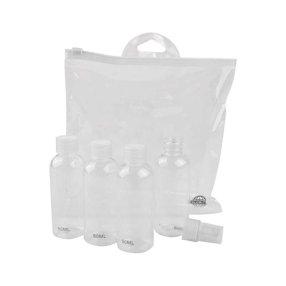 Carry-On Approved Travel Kit - 5 Piece / Clear - globitetravel