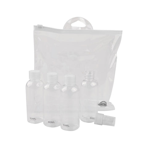 Carry-On Approved Travel Kit - 5 Piece / Clear - globite