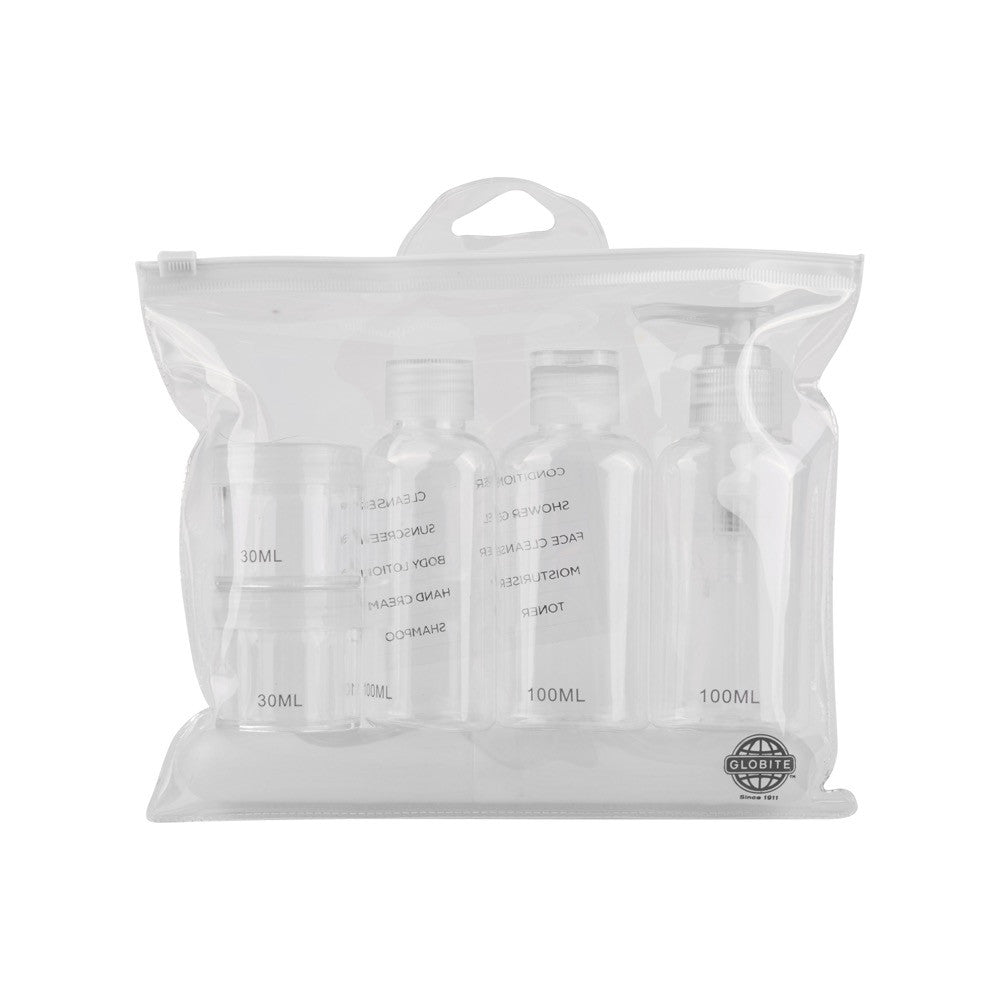 Carry-On Approved Travel Kit - Clear 7 Piece - globite
