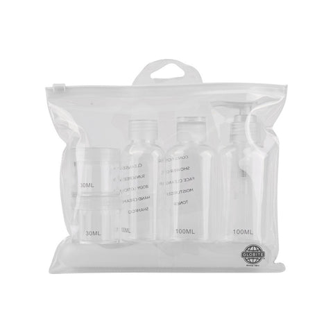 Carry-On Approved Travel Kit - 7 Piece / Clear - globitetravel