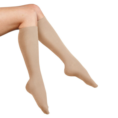Anti-DVT Compression Flight Socks - Medium / Nude - globitetravel