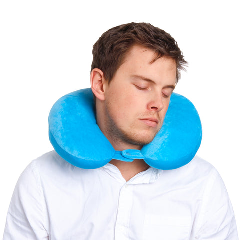 Explorer Neck Pillow - Blue - globitetravel