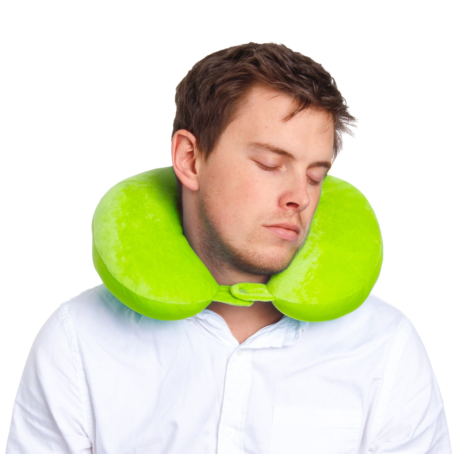 Microbead Neck Pillow - Green - globitetravel