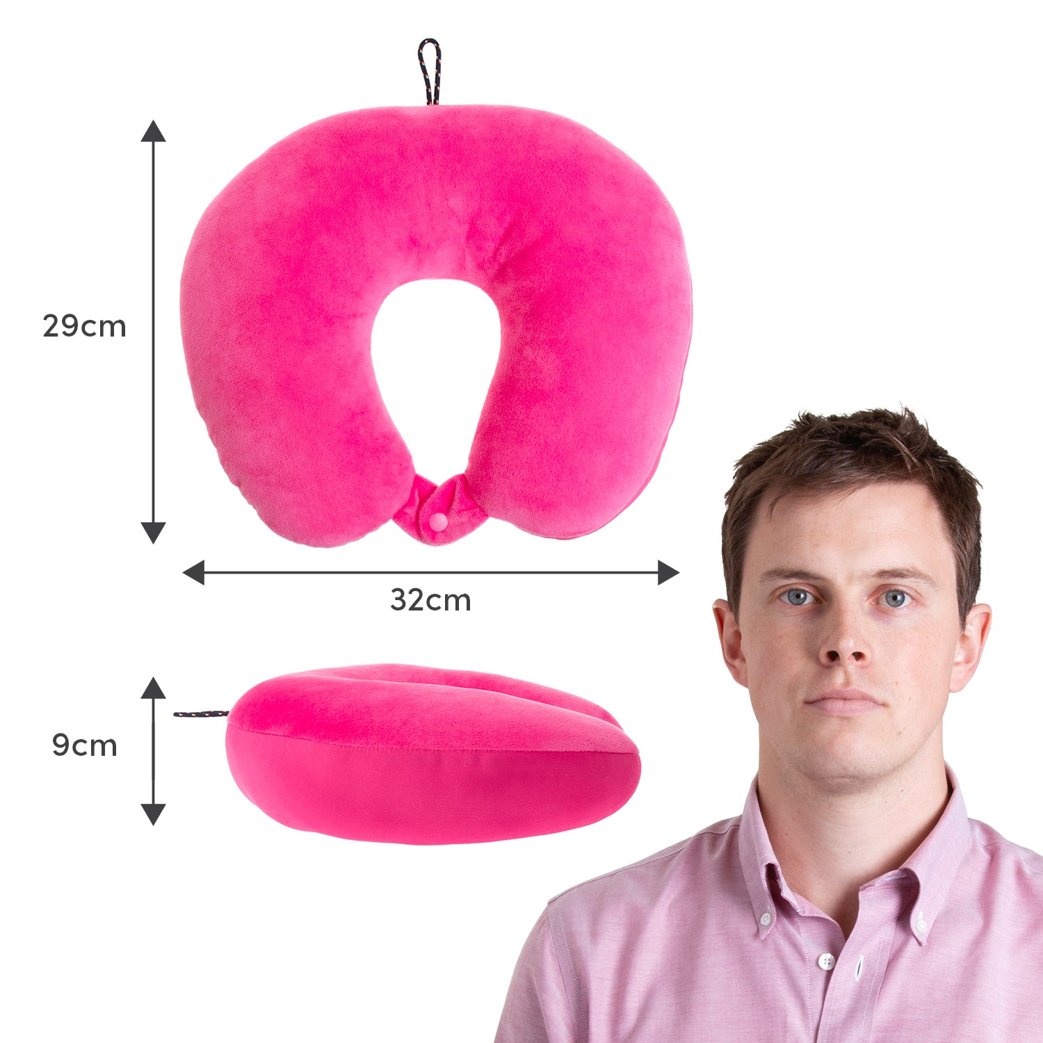 Explorer Neck Pillow - Pink - globitetravel