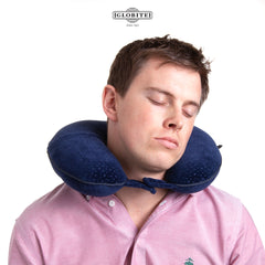 Travel Neck Pillow, Memory Foam, Comfortable Neck Support, High Quality by Globite Australia - globitetravel