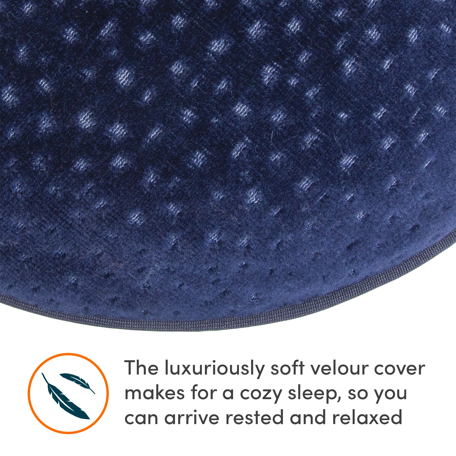 Deluxe Memory Foam Neck Pillow - Navy - globitetravel