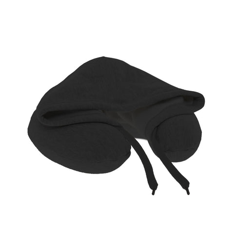 Neck Pillow with Hood - Black - globitetravel