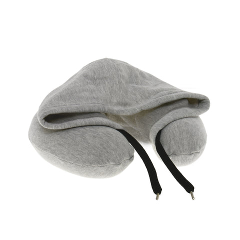 Neck Pillow with Hood - Grey - globitetravel