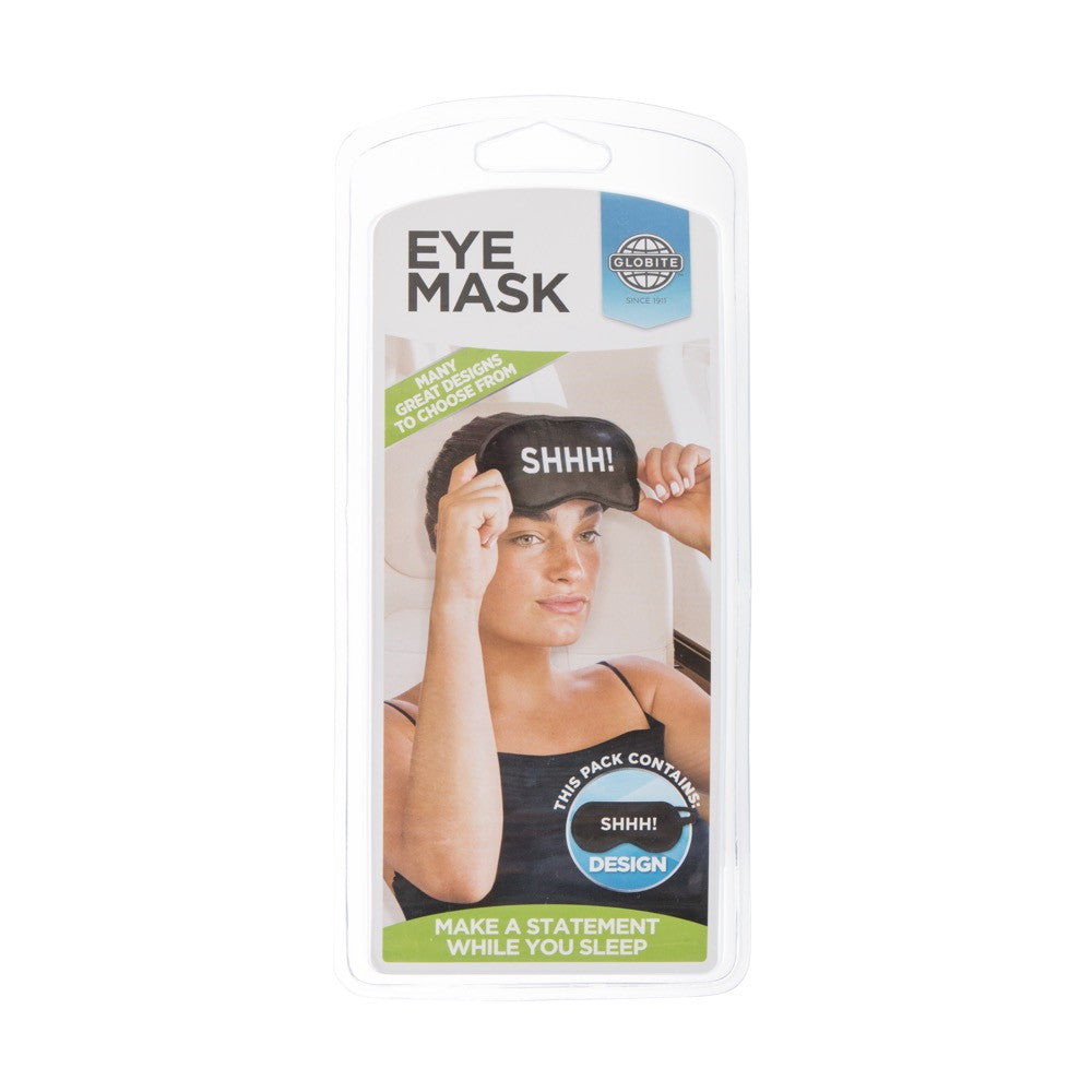Novelty Eye Mask-Shhh - globitetravel