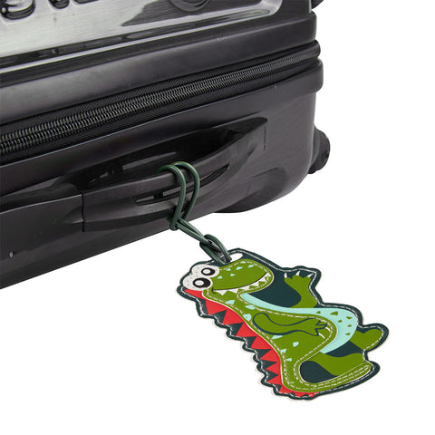 Kids Luggage Tag Dinosaur - globitetravel
