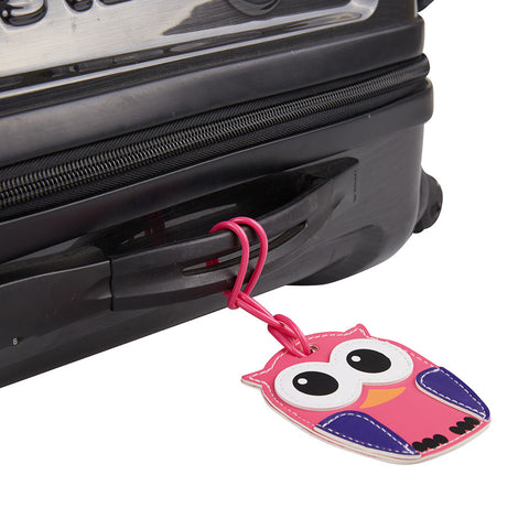 Kids Luggage Tag Owl - globitetravel