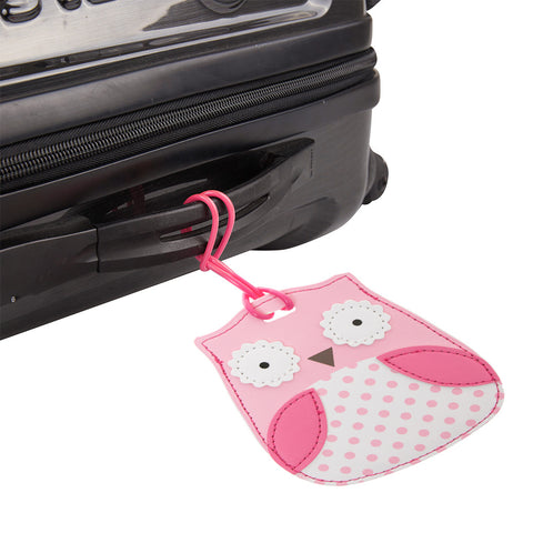 Kids Luggage Tag Owl Hoot - globitetravel