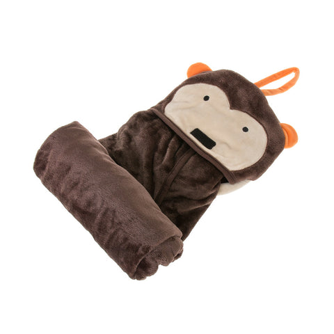 Kids Travel Blanket - Monkey - globitetravel