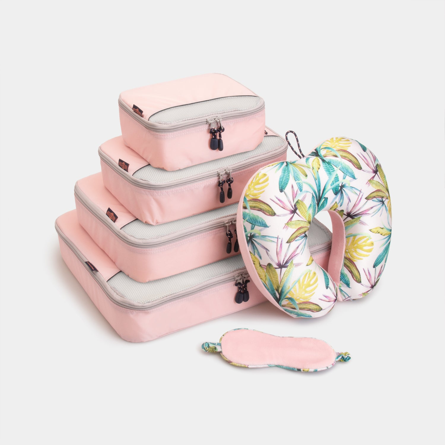 Packing Cubes & Travel Pillow Bundle - Dusty Pink - globite