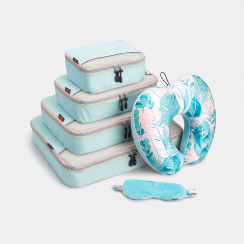 Packing Cubes & Travel Pillow Bundle - Dusty Blue - globite