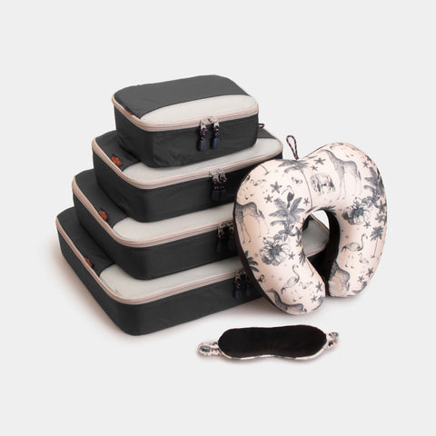 Packing Cubes & Travel Pillow Bundle - Black - globite