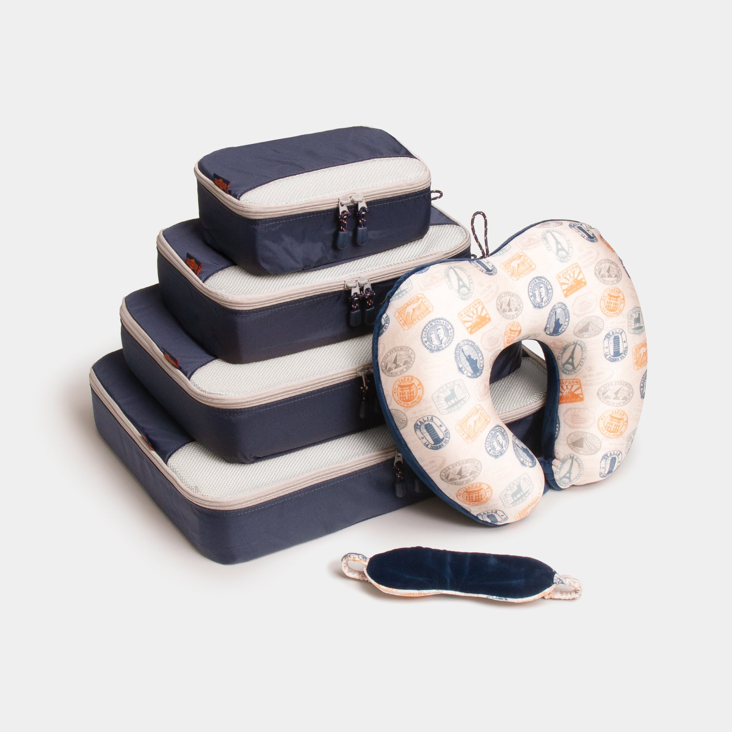Packing Cubes & Travel Pillow Bundle - Navy - globite