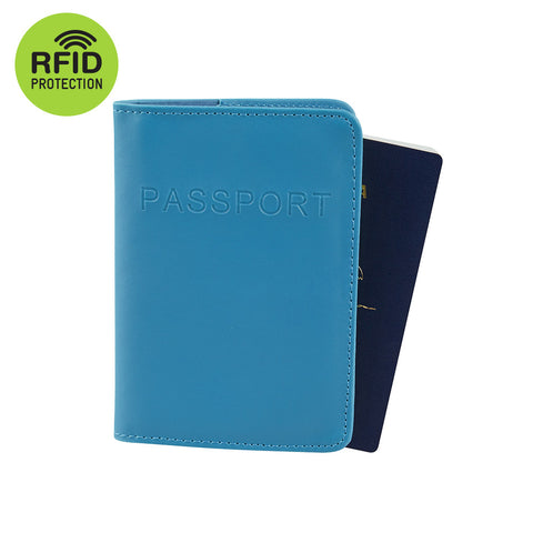 RFID Blocking Passport Cover - Blue