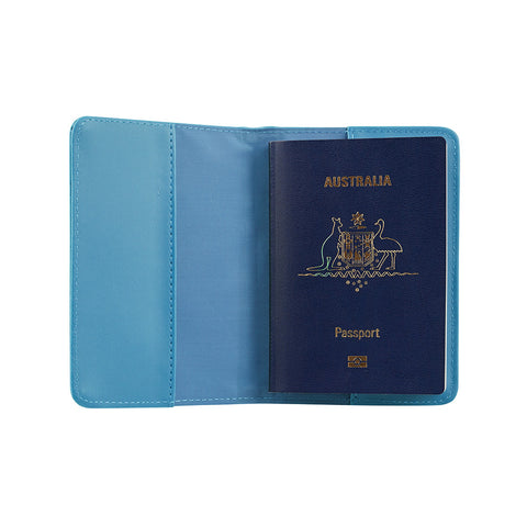 RFID Blocking Passport Cover - Blue - globitetravel