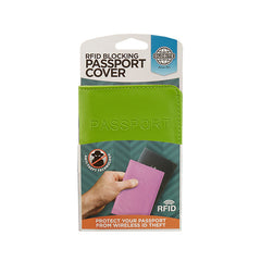 RFID Blocking Passport Cover - Green - globitetravel
